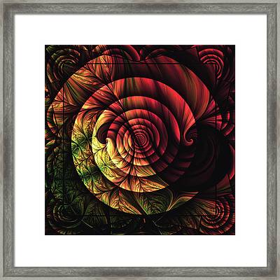 Touch Of Sunshine Abstract Framed Print by Georgiana Romanovna