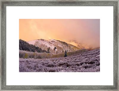 Touch Of Winter Framed Print by Chad Dutson