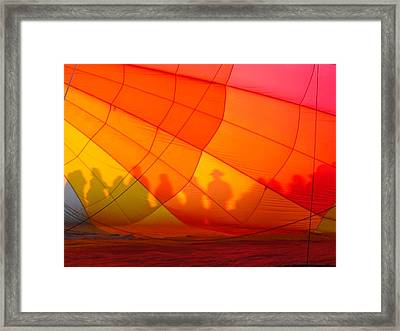 Touch The Rainbow Framed Print by Leah Moore