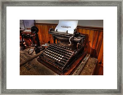 Touch Type With A Heavy Hand Framed Print