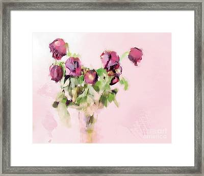 Framed Print featuring the mixed media Touchable by Betty LaRue