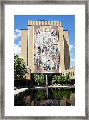 Touchdown Jesus Mural Framed Print