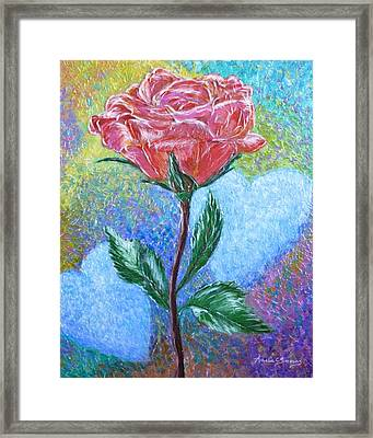 Touched By A Rose Framed Print