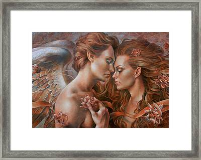 Touched By Angel Framed Print