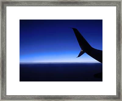 Touched By Blue Skies Framed Print