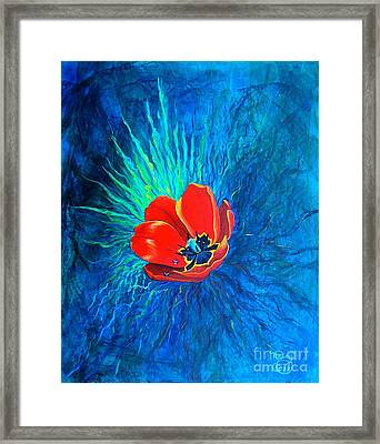 Touched By His Light Framed Print by Nancy Cupp