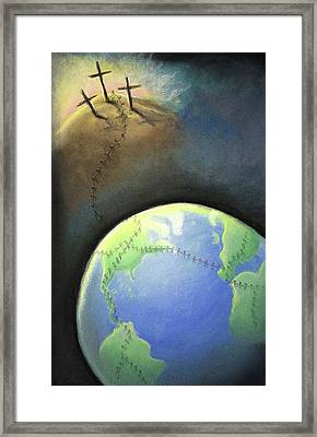 Touched By His Love Framed Print