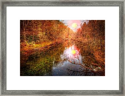 Touched By The Morning Framed Print by Debra and Dave Vanderlaan