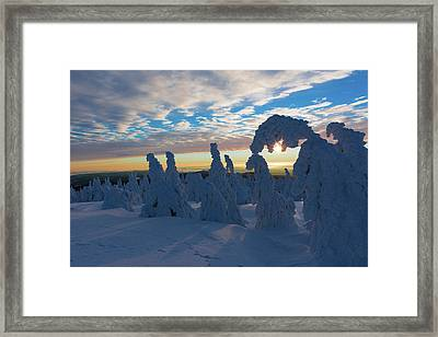Touched From The Winter Sun Framed Print