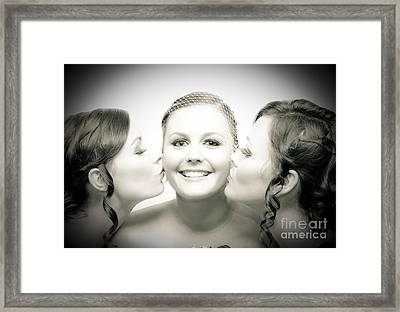 Touching Display Of Wedding Affection Framed Print