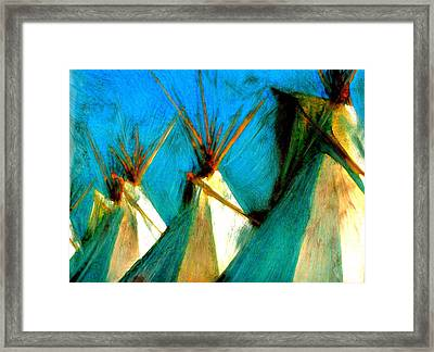 Touching Earth Reaching Sky Framed Print