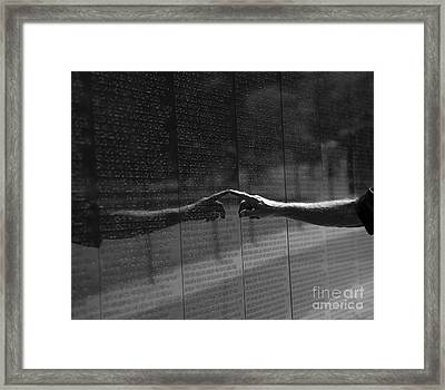 Touching Names Framed Print by David Bearden