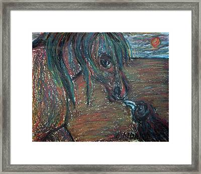 Touching Noses Framed Print