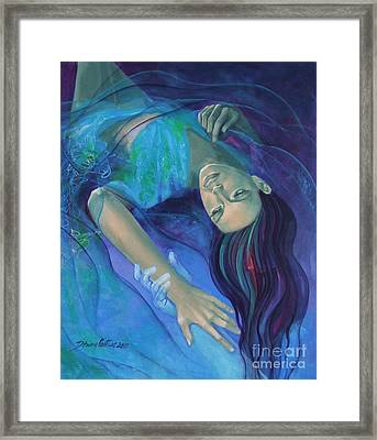 Touching The Ephemeral Framed Print by Dorina  Costras