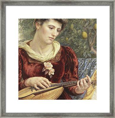 Touching The Strings Framed Print by Edith Martineau
