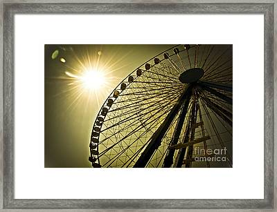 Touching The Sun Framed Print by Alessandro Giorgi Art Photography