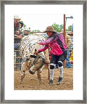 Tough Enough To Wear Pink Framed Print by Ron  McGinnis