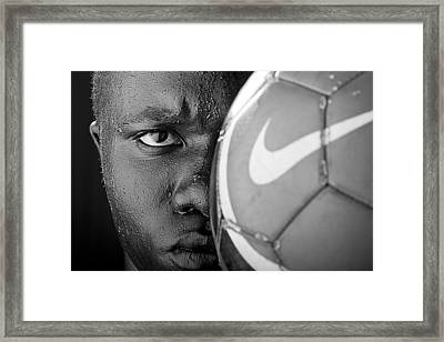 Tough Like A Nike Ball Framed Print by Val Black Russian Tourchin