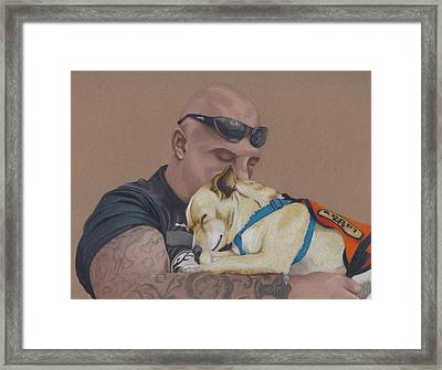 Tough Love Framed Print