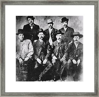 Tough Men Of The Old West Framed Print by Daniel Hagerman