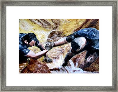 Tough Mudder Wounded Warrior Contest Framed Print