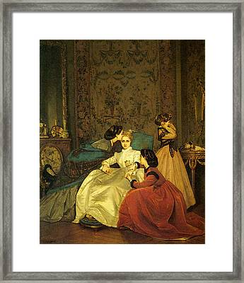 Toulmouche Auguste The Reluctant Bride Framed Print by Auguste Toulmouche