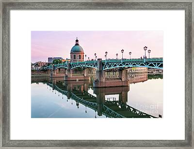 Toulouse At Sunset Framed Print by Elena Elisseeva