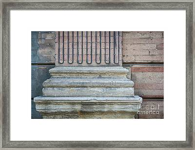 Toulouse Building Fragment Framed Print by Elena Elisseeva