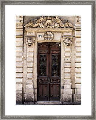 Toulouse Door Framed Print by Georgia Fowler