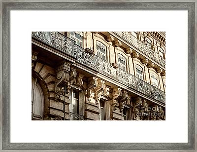 Toulouse Facade Framed Print by Elena Elisseeva