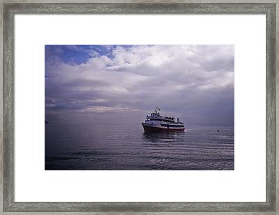 Tour Boat San Francisco Bay Framed Print