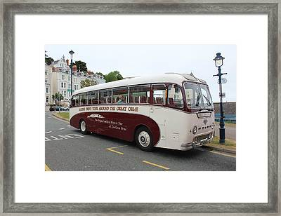 Tour Bus Framed Print
