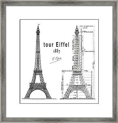 Tour Eiffel 1887 Framed Print