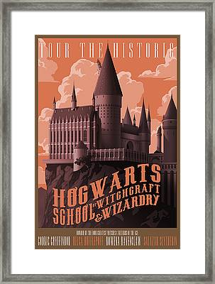 Tour Hogwarts Castle Framed Print by Christopher Ables
