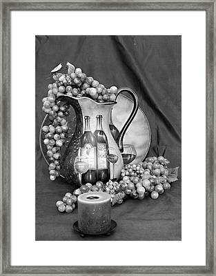 Framed Print featuring the photograph Tour Of Italy In Black And White by Sherry Hallemeier