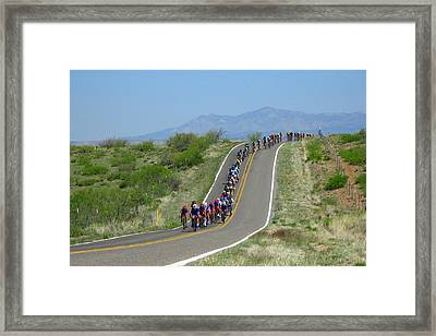 Tour Of The Gila 2017 Framed Print by Feva Fotos