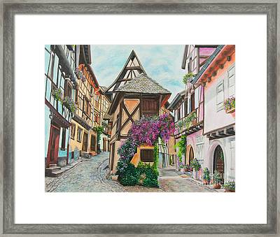 Touring In Eguisheim Framed Print