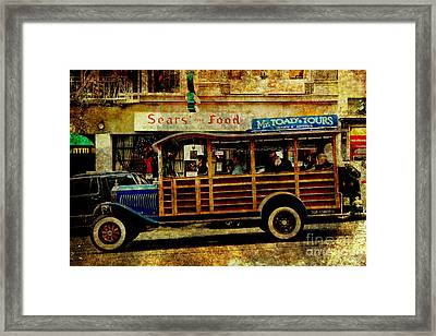 Touring The Streets Of San Francisco . Texture Framed Print by Wingsdomain Art and Photography