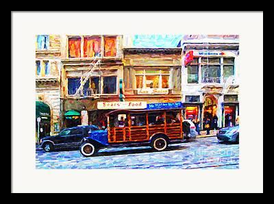 Tour Bus San Francisco Framed Prints