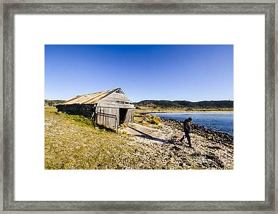 Tourist In East Coast Tasmania Framed Print