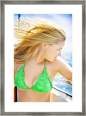 Tourist On Ocean Travel Cruise Framed Print by Jorgo Photography - Wall Art Gallery