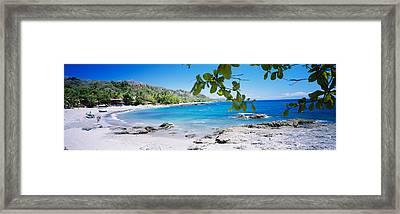 Tourist On The Beach, Montezuma, Costa Framed Print by Panoramic Images