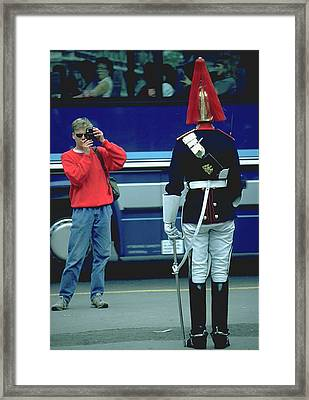Tourist Photographer In London Framed Print