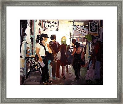 Tourists Framed Print by Brian Simons