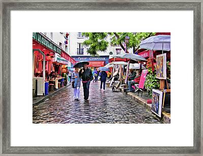Tourists - Paris - Place Du Tertre Framed Print