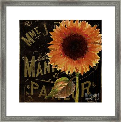 Tournesols Orange Sunflowers Framed Print by Mindy Sommers