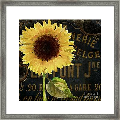 Tournesols Yellow Sunflowers Framed Print by Mindy Sommers