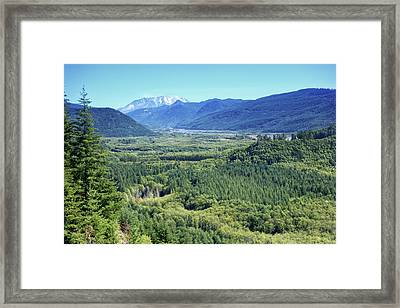 Toutle Valley, Wa Framed Print