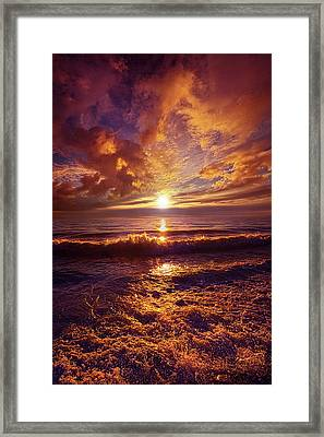 Framed Print featuring the photograph Toward The Far Reaches by Phil Koch
