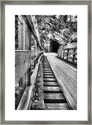 Toward The Tunnel Framed Print